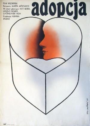 Adopcja Marta Meszaros Lech Majewski Polski plakat filmowy