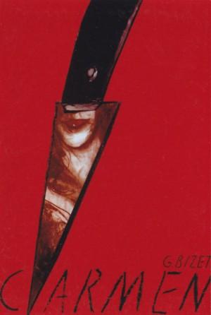 Carmen Georges Bizet Jędrzej Bobowski Polski plakat operowy