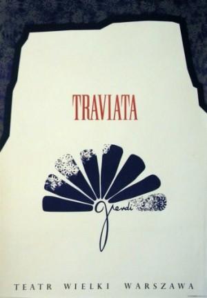 Traviata Verdi Ivo Dubiecki polski plakat