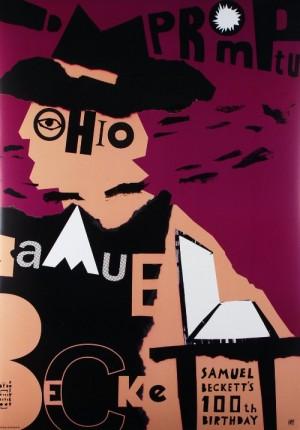 Samuel Beckett 100 lat Piotr Kossakowski Polski plakat teatralny