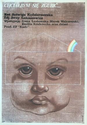 Chciałbym się zgubić Jadwiga Kędzierzawska Edward Lutczyn polski plakat