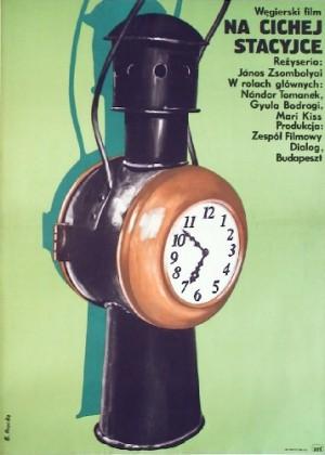 Na cichej stacyjce Janos Zsombolyai Elżbieta Procka Polski plakat filmowy