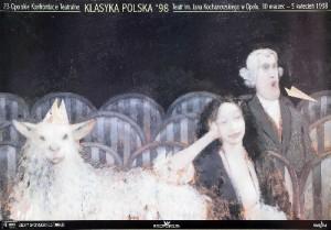 Opolskie Konfrontacje Teatralne 23. Andrzej Sznejweis polski plakat