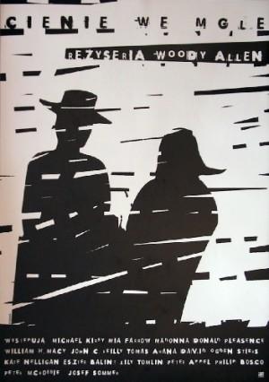 Cienie we mgle Woody Allen Elżbieta Wojciechowska polski plakat