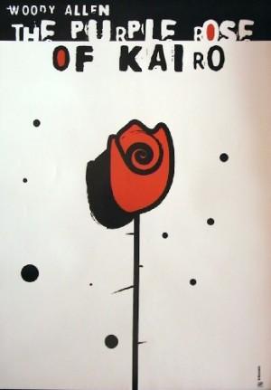 Purpurowa róża z Kairu Woody Allen Elżbieta Wojciechowska polski plakat