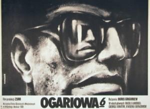 Ogariowa 6. Boris Grigorev Krzysztof Bednarski polski plakat