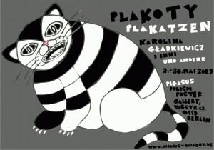 Plakoty Karolina Gładkiewicz Polski plakat wystawowy