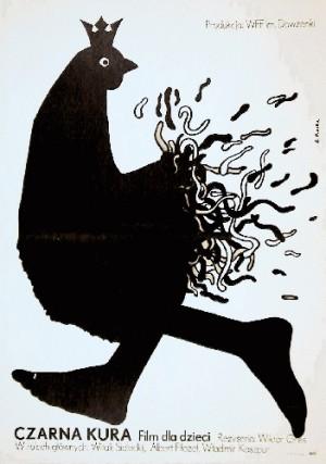 Czarna kura Viktor Gres Elżbieta Procka Polski plakat filmowy