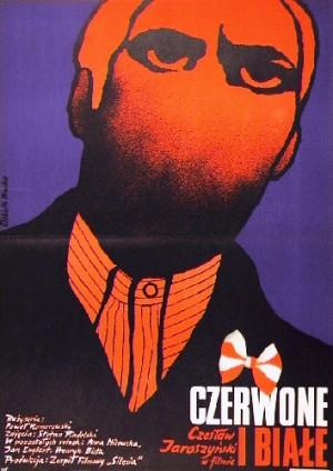 Czerwone i białe Paweł Komorowski Elżbieta Procka Polski plakat filmowy