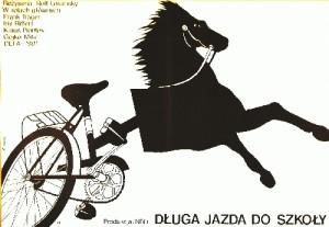 Długa jazda do szkoły Rolf Losansky Elżbieta Procka Polski plakat filmowy