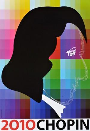 Chopin 2010 Zbigniew Latała Polski plakat muzyczny