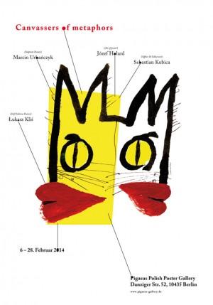 Akwizytorzy metafor Józef Hołard Polski plakat wystawowy