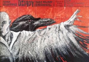 Dziady Bolesław Polnar Polski plakat teatralny