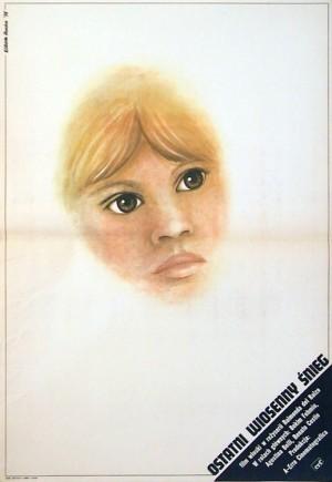 Ostatni wiosenny śnieg Elżbieta Procka Polski plakat filmowy