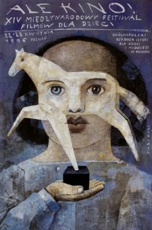 Ale Kino XIV Międzynarodowy Festiwal Filmów Młodego Widza Wiktor Sadowski Polski plakat filmowy