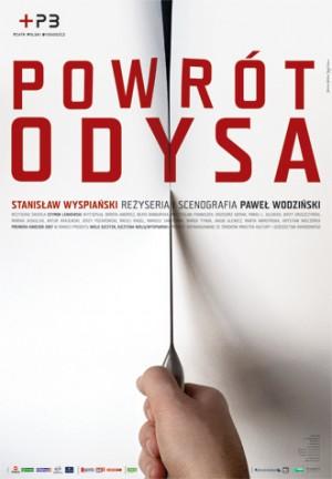 Powrót Odysa Joanna Górska Jerzy Skakun Polski plakat teatralny