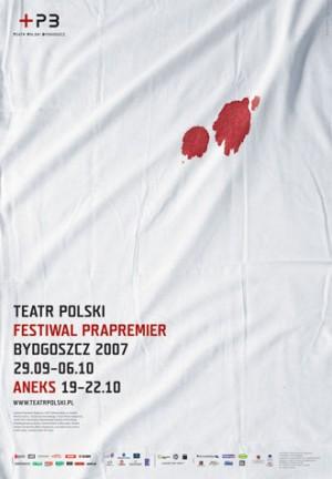 Festiwal Prapremier Joanna Górska Jerzy Skakun Polski plakat teatralny