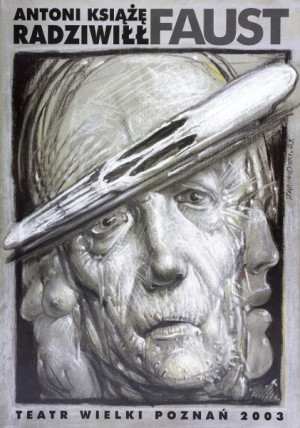 Faust Franciszek Starowieyski Polski plakat teatralny
