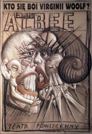 Kto się boi Virginnii Woolf Franciszek Starowieyski Polski plakat teatralny