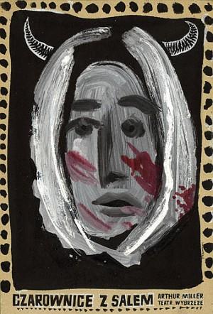Czarownice z Salem Franciszek Starowieyski Polski plakat teatralny