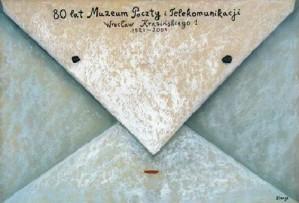 80 lat poczty i komunikacji Stasys Eidrigevicius Polski plakat