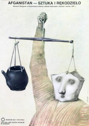 Afganistan sztuka i rękodzieło Stasys Eidrigevicius polski plakat