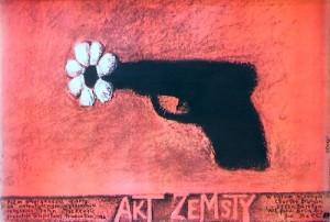 Akt zemsty John Mackenzie Stasys Eidrigevicius Polski plakat filmowy