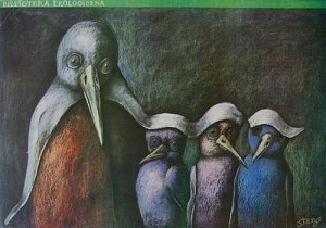 Biblioteke ekologiczna Poznań Stasys Eidrigevicius Polski plakat