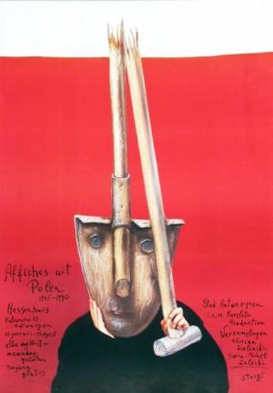 Affiches uit Polen Antwerpen Stasys Eidrigevicius Polski plakat wystawowy