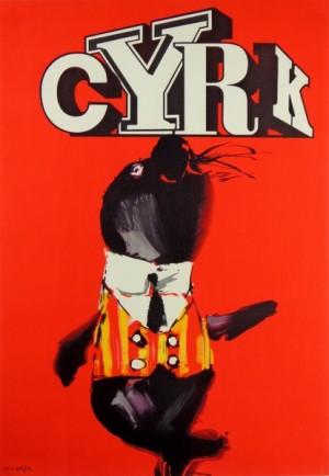 Cyrk foka Waldemar Świerzy Polski plakat cyrkowy