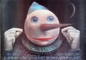 Ale Kino! 13. Festiwal Filmów dla Dzieci Wiesław Wałkuski Polski plakat filmowy