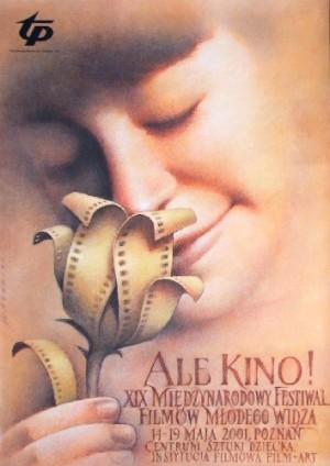 Ale Kino! 19. Festiwal Filmów dla Dzieci Wiesław Wałkuski Polski plakat filmowy
