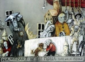 Wesele Figara Janusz Wiśniewski Polski plakat operowy