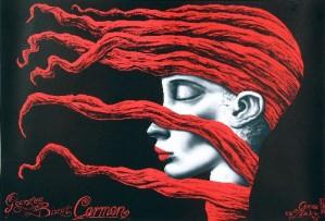 Carmen Georges Bizet Leszek Żebrowski Polski plakat operowy
