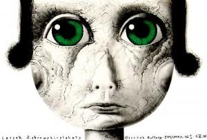 Zielonka Leszek Żebrowski Polski plakat wystawowy