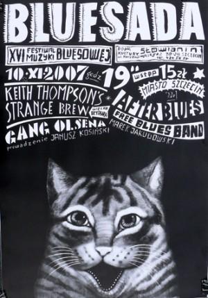 Bluesada XVI Leszek Żebrowski Polski plakat muzyczny