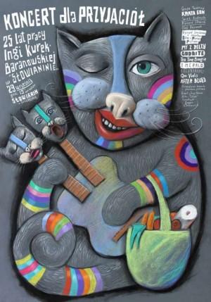 Koncert dla przyjaciół Leszek Żebrowski Polski plakat muzyczny