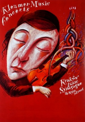 Koncerty muzyki klezmerskiej Synagoga Izaaka Kraków Kupa 18 Leszek Żebrowski Polski plakat muzyczny