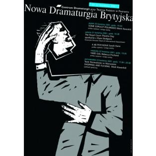 Nowa Dramaturgia Brytyjska Mirosław Adamczyk Polskie Plakaty Teatralne