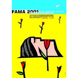 Fama 2001 Mirosław Adamczyk Polskie Plakaty