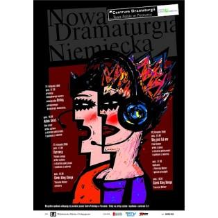Nowa Dramaturgia Niemiecka Mirosław Adamczyk Polskie Plakaty Teatralne