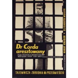 Dr Corda aresztowany Zygmunt Anczykowski Polskie Plakaty Filmowe