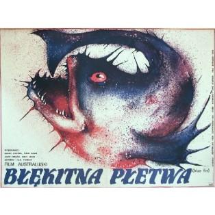 Błękitna płetwa Carl Schultz Danuta Baginska-Andrejew Danka Polskie Plakaty Filmowe