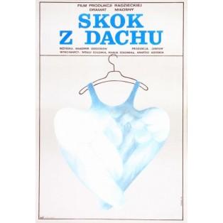 Skok z dachu Vladimir Grigorev Danuta Baginska-Andrejew Danka Polskie Plakaty Filmowe