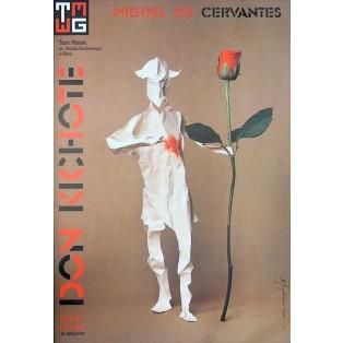 Don Kichote Miguel de Cervantes Tomasz Bogusławski Polskie Plakaty Teatralne