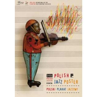 Polish Jazz Poster Międzynarodowy dzień jazzu Tomasz Bogusławski Polskie Plataty Wystawowe
