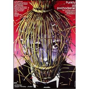 Punkty za pochodzenie Franciszek Trzeciak Lex Drewinski Polskie Plakaty Filmowe