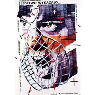 Śledztwo wykazało Ada Neretniece Lex Drewinski Polskie Plakaty Filmowe