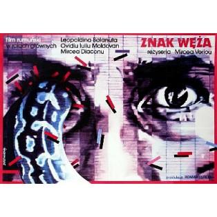 Znak węża Mircea Veroiu Lex Drewinski Polskie Plakaty Filmowe