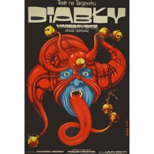 Diabły Warszawskie Teatr na Targówku Jakub Erol Polskie Plakaty Teatralne